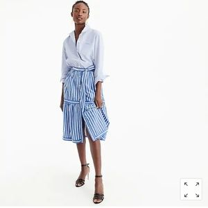 Jcrew button front tie front skirts